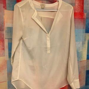 Jcrew cream colored blouse